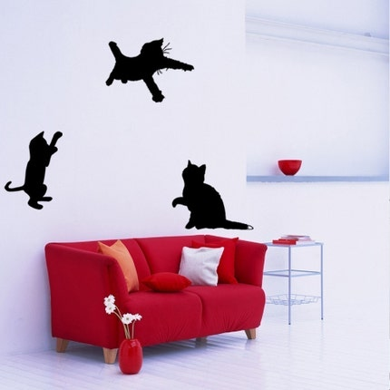 Set of 3 Playful Kitty