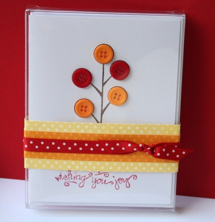 Button Tree Cards - Set of Four - All Occasion