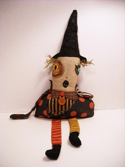 Handmade Plush Doll (Witch Hilde)