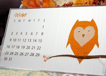 Nella Designs 2011 Desk Calendar with Case