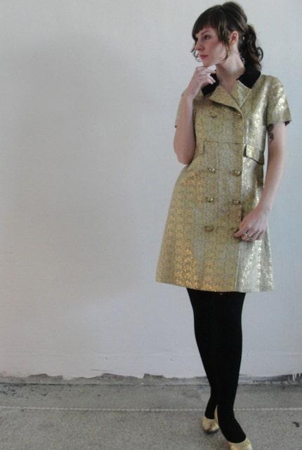 Golden Vogue... Vintage Handmade Dress