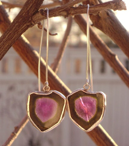 Tags : watermelon tourmaline; ,sterling silver; ,earrings; ,jewelry