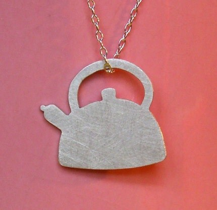TEAPOT sterling silver necklace