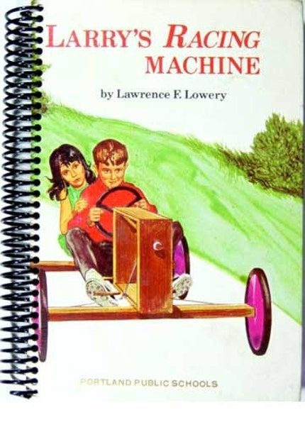 Larry's Racing Machine recycled book blank journal