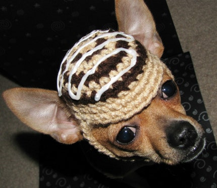 Doggie Cini-Mini Cinnamon Roll Hat