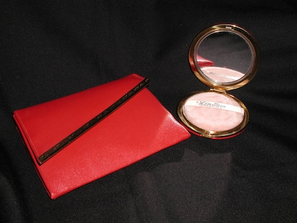 Vintage Red Lin Bren Purse Clutch with matching Compact B F Goodrich