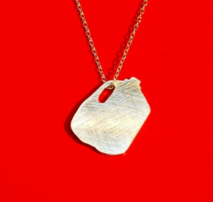MILK JUG sterling silver necklace