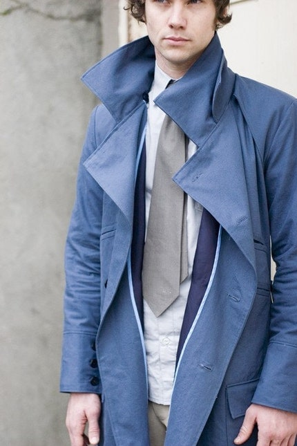 Images of Blue Trench Coat - Reikian