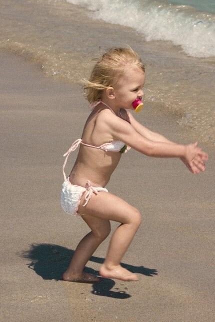 bebeğinize çok şirin örgü bikini modeli