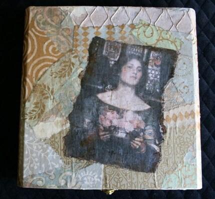 Rosebud Maiden Wooden Treasure Box