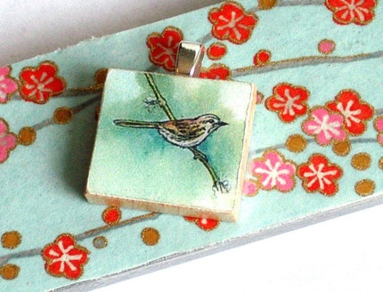 Tile Pendant-Little Bird
