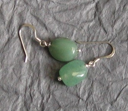 Calm and Cool Earrings Aventurine Green