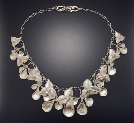 White Ophelia Fine Silver Necklace, $375 retail
