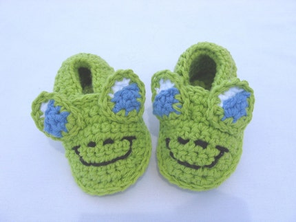 Easy Baby Booties - For these crocheted booties you'll use a Size