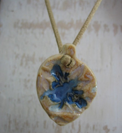 Blue Bee Necklace by SweetpeaCottage
