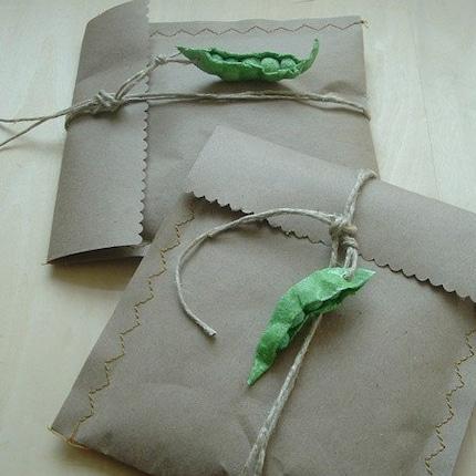 peapod giftwrap bags eco green