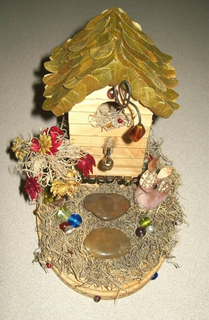 Fairy House - Earth Fairy, Forest Fairy, Wood Fairy - Perfect Fae Home NEW LOW PRICE 10.00 OFF