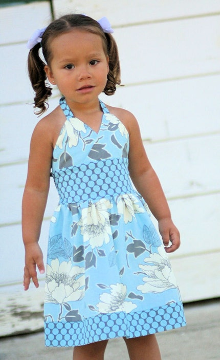 Etsy :: sassybabyboutique :: Sassybaby Carol Toddler Girls Halter Sundress Sizes 6M to 6 Years