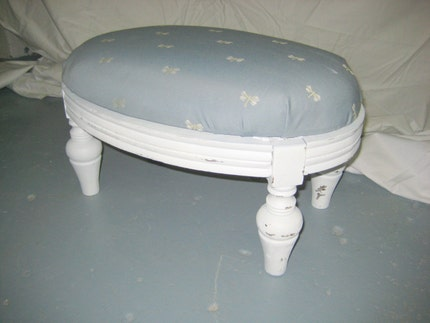 Shabby Chic Dragonfly Stool