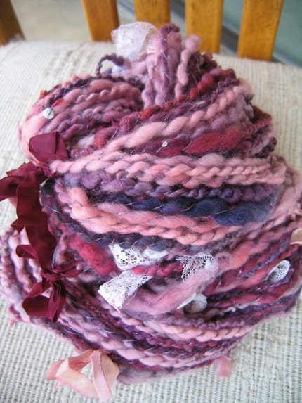 Clara Bows - Handspun Yarn