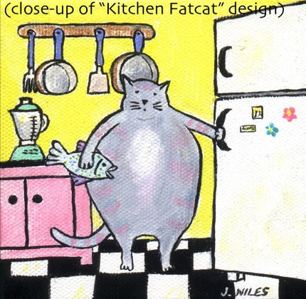 Notecard - Kitchen Fatcat