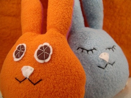 Heads up bunny Door Plushie-Awake and Asleep sign for Dad and friends