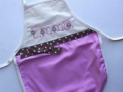 personalized/monogrammed child's apron