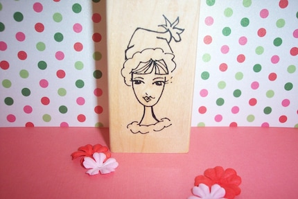 Rubber Romance UNMOUNTED Stamp - MERRY the Christmas Diva