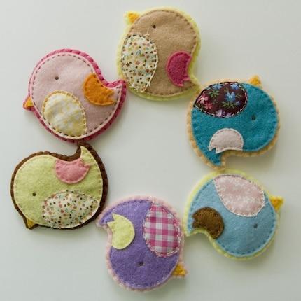cute birdie pins