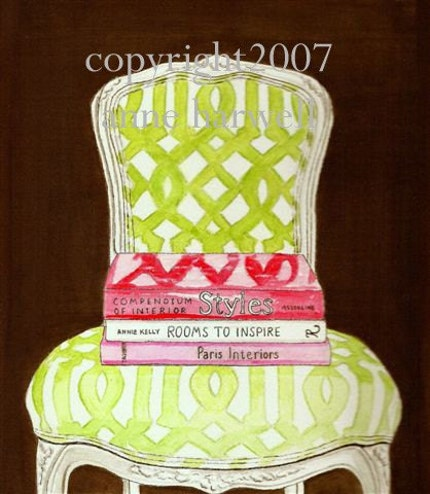 COURTNEY BARNES CHAIR GICLEE ON CANVAS - 11x14