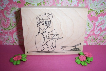 Rubber Romance UNMOUNTED Stamps- Diva Chef