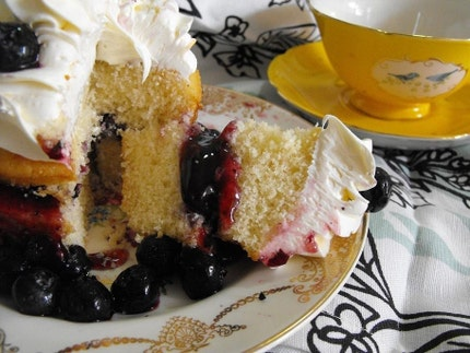 Blueberry Cupcake Trifle A La Mode