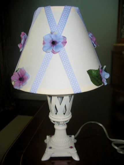 Etsy :: carolsegal :: LAVENDER POSIES LAMP - FREE SHIPPING from etsy.com