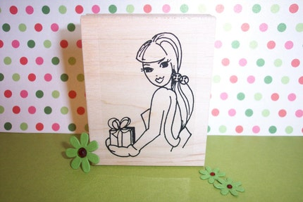 Rubber Romance Stamps-UNMOUNTED- Stephanie