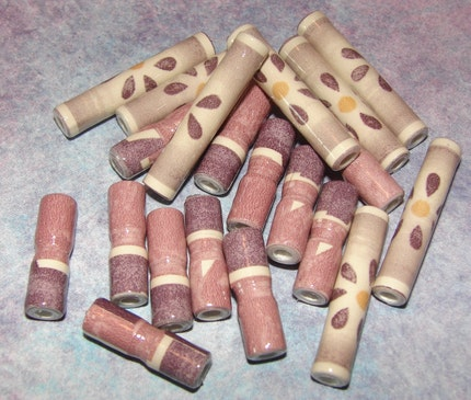 Paper Beads - Grapevine - Lot of 20 beads - Wine Country Theme Sale - ebtw