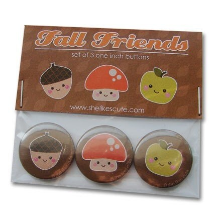 Fall friends Buttons