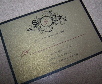 Lucy and Jalen 5x7 Layered Wedding Invitation