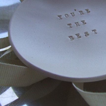 YOU'RE THE BEST tiny text bowl