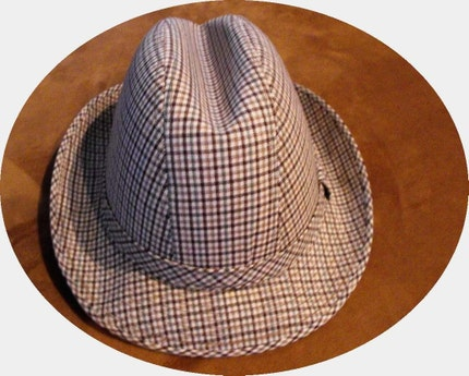 Vintage All Weather Houndstooth Plaid Fedora