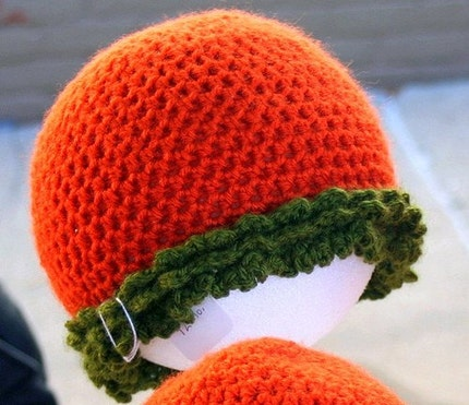 Halloween pumpkin hat toddler girl FALL SALE