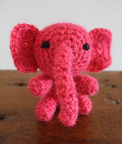 Etsy :: CraftMatters1970 :: Cute Pink Amigurumi Elephant ...