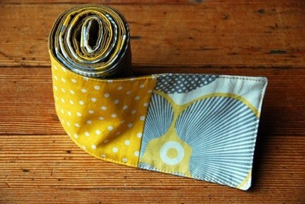 Little Yellow polka dot scarf