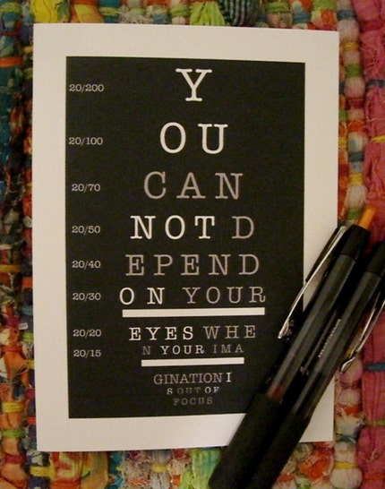 Eyechart note card - Ohkayk