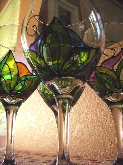 Etsy pick crafty kitchen favecrafts - Funky champagne flutes ...