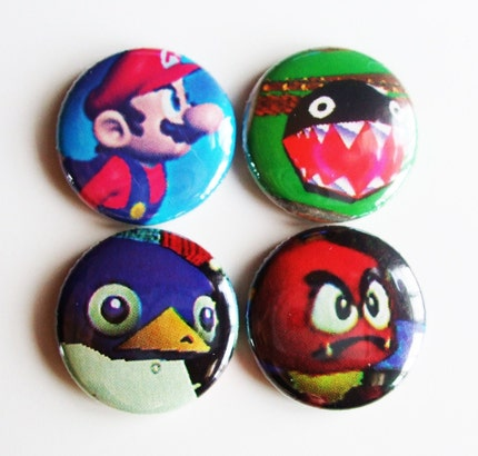 Super Mario 64 Nintendo Buttons by lostmitten on Etsy