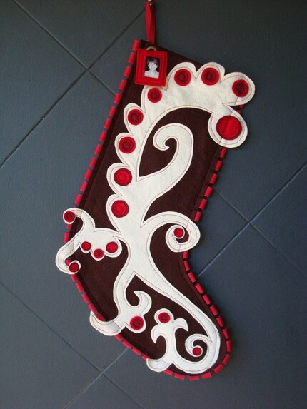 Modern Holiday Stocking by Ahna Holder