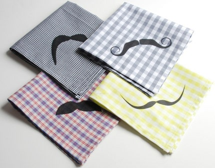 Mustache Handkerchief - Pick a Fabric