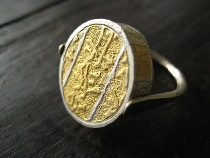 Gold and Silver Flip Ring