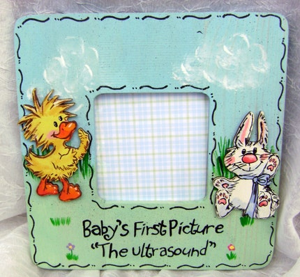Handpainted Suzy Zoo ULTRASOUND Picture Frame