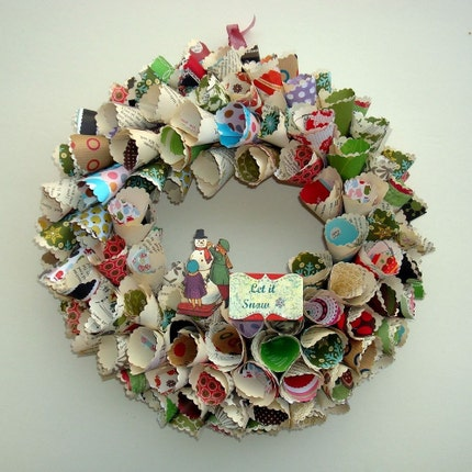 Let It Snow Paper Wreath